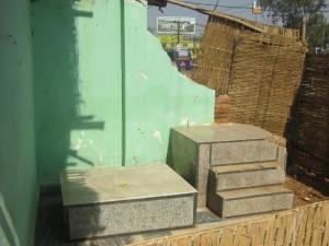The remains of Srila Prabhupada's bhajan kutir