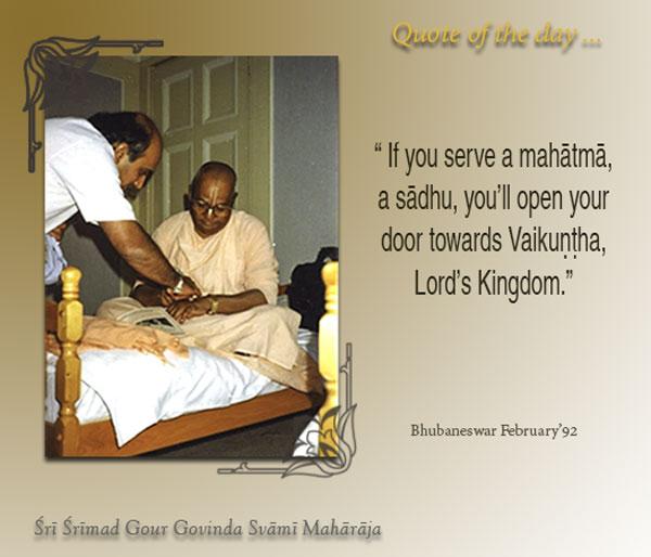 Serving Mahatma